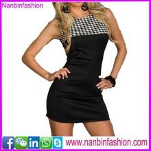 New stylesleeveless black wholesale bandage dress