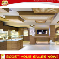 New arrival used acrylic MDF glass jewelry display cabinet cases