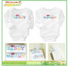 2pcs in 1 gift set, Colorful Baby clothes romper bodysuit - 100% organic cotton