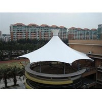 Building top roof Sunshade Fabric Membrane structure