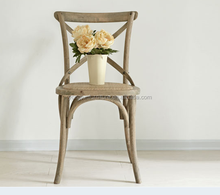 Birch Wood Antique Style Cross Back Wedding Dining Chairs /Popular Wholesale Resin Cross Back Chair