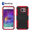 Hybrid PC Rubber Case with Stand for Samsung Galaxy S6 G9200 mobile phone case