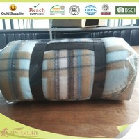 100% polyester polar fleece blanket whipstitching printed