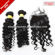 Best Selling Deep Wave Mongolian Hair Lace Closure