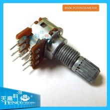 6mm Split Shaft Top Adjustment Rotary Linear Potentiometers B50K