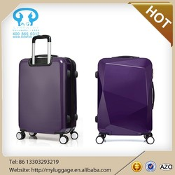 2015 girls eminent ABS PC airport trolley travel luggage