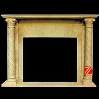 yellow gas stone fireplaces