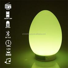Hot sale colorful changing audio multifunction radio smart led lighting day speaker