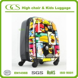 printed carryon pc and abs kids luggage