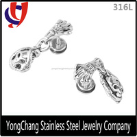 316L steel earrings dangle skull dangler for ear jewelry