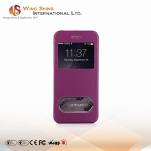 Touch screen TPU and PU leather case for iphone 6plus mobile phone