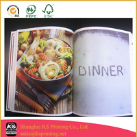 Offset cook book, Magazine,Novel Printing with perfect binding and Gloss lamination