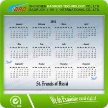 2014 cep boyutu takvim card  yılbaşı takvim kartı