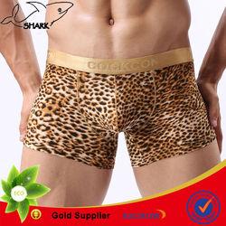 2014 Hot selling leopard Luxury mature men underwear boxer briefs boy panties OEM