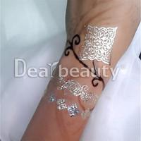 New glow in the dark temporary tattoos custom gold & silver paper body art tattoo