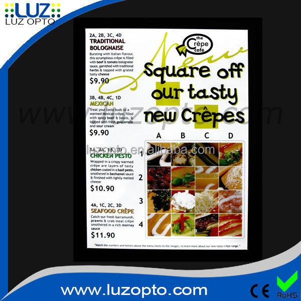 matt black led light box menu board