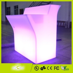 Waterproof IP54 Plastic LED Glass Bar Table,LED Bar Table