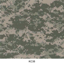 Digital camouflage water transfer printing film 3d printed on canvas red color 50cm width for army helmet