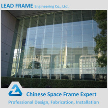 Outdoor Artistic Tempered Glass Hidden Frame Curtain Wall
