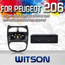 WITSON FOR PEUGEOT 206 2010 DVD GPS RADIO WITH 1.6GHZ FREQUENCY A8 DUAL CORE CHIPSET BLUETOOTH GPS