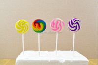 10g,12g ,15g double colors flat swirl round colorful rainbow Lollipop Candy