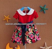 Vestido de las niñas, vestidos de moda 2014, las niñas vestido de algodón