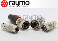 100% compatible Hirose 4 pin circular male female camera pin connectors HR10A-7P-4P plug