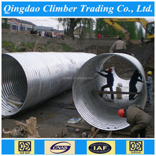 China galvanized corrugated steel pipe for the road culvert, stromwater,small bridge
