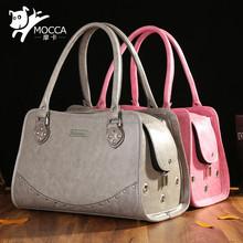 Pet Shoulder Bag Pet Handbag Portable Leather Carrier Bag for Dogs