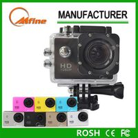 """2.0"""" Touch Screen Cheap HD1080P Sport Camera 50M Waterproof 170Degree Wide Angel Lens 8X digital Zoom 6Color Available"""
