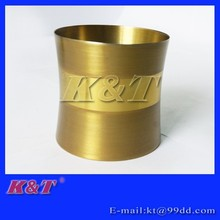 Golden mirror and sanding stainless steel tooth brush cup