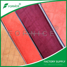 Factory Supply High Quality embroidered suede auto upholstery material