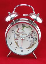 Low price promotional simple fashion high quality decoration oversize twin bell alarm clock