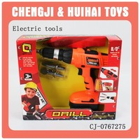 2014 good quality kids plastic battery operated tool toys drill