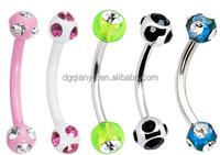 skeleton body piercing jewelry diamond body jewelry diamond eyebrow ring