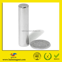 China manufacturer large super strong high grade sintered permanent diametrically magnetized cylinder neodymium magnet