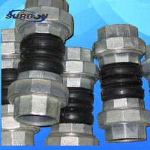 best selling EPDM rubber joint with NPT connection end