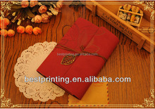 Embossed Journal book with leaf metal and Pu notebook for gift