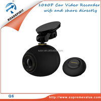 Q6 WiFi Car DVR Connection with Smartphone Capture the Moments with Wireless Button Share the Moments with Android/IOS Apps