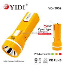 Good quality large capacity rechargeable torch led flashlight