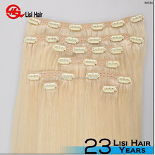 hot sale full cuticle remy full head trade assurance 120g 160g 220g wholesale cheap 100% human hair clip in hair extension black