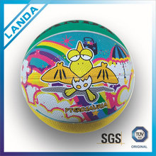 custom rubber printed rubber mini basketball for kids