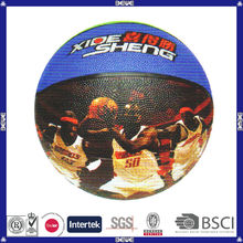 hot sell promotional customized logo rubber basketball new
