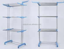 three layers folding clothes rack easy move 4 color plastic parts