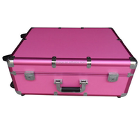 hair stylist rolling case,Aluminium dressing case trolley case