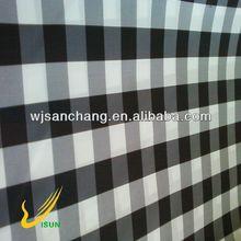 black and white check print taffeta fabric for men