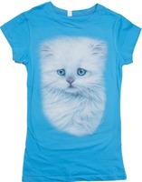 cute animal design printing girl t shirt with side seams