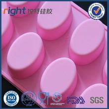 3d oval şeklinde silikon yılbaşı sabun kalıpları mikrodalga kek