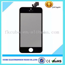 Cell phone spare parts for iphone5 5g lcd with touch together, 100%Original New 5G LCD Display+Digitizer Screen