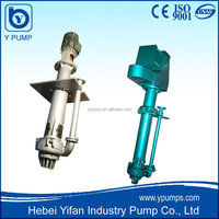 metal or rubber liner Centrifugal Vertical Sump Pump